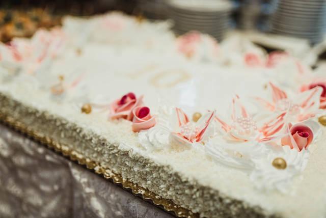 Wedding Cake Decor Sugar Close Up