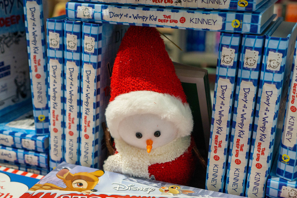 Festive Winter Stuffed Toy within Children Books Diary of a Wimpy Kid and a Disney Christmas Story