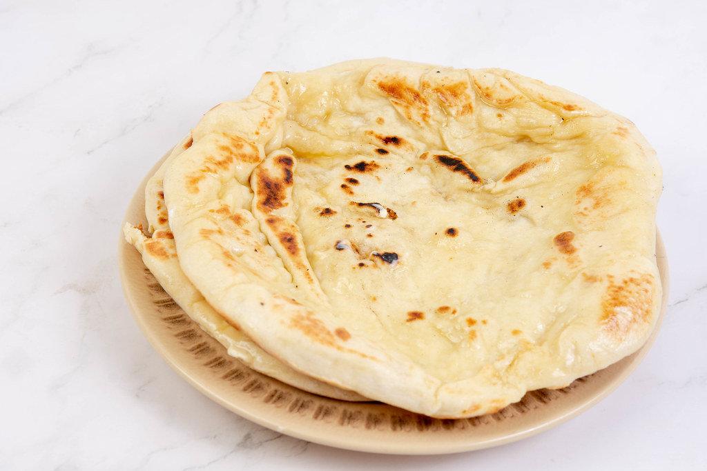 Homemade dough Tortillas on the plate