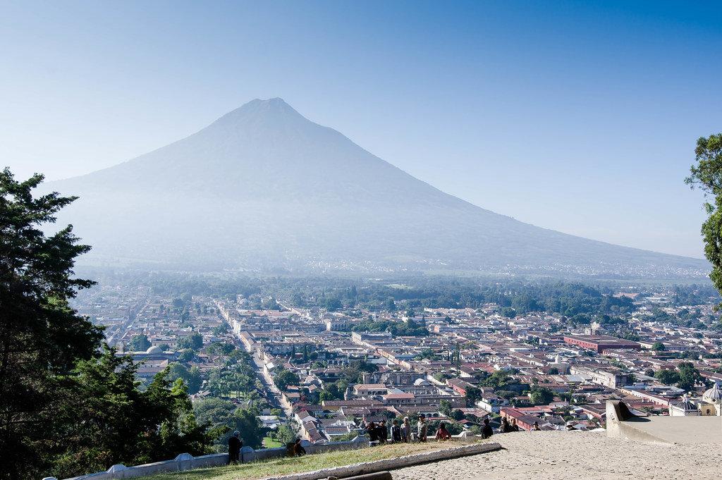 Aerial view of Antigua, Guatemala