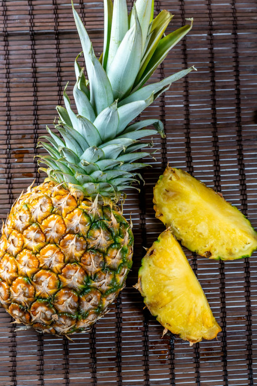 Beautiful Whole Pineapple and cut into pieces
