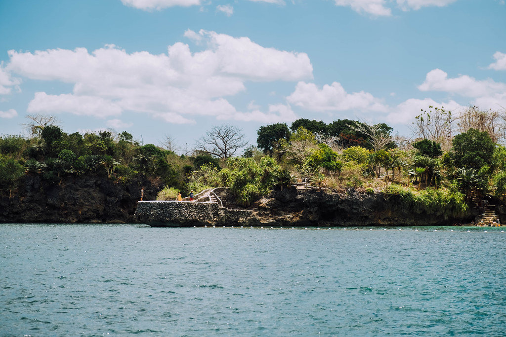 A small diving cliff in a private resort in Guimaras