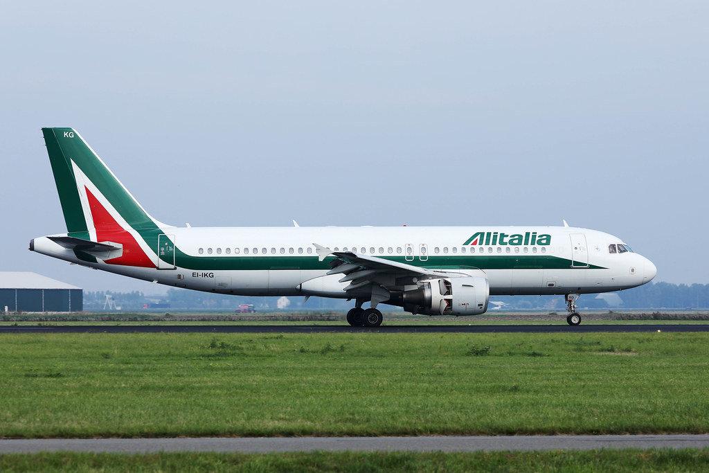 Alitalia plane at Amsterdam Airport Schiphol