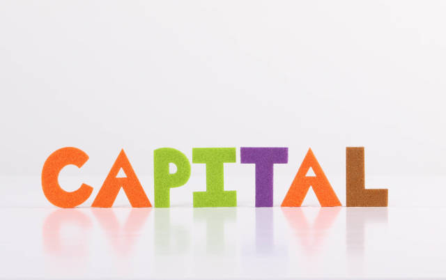 The word Capital on white background