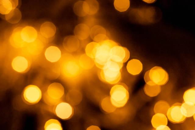 Blurred background of bright glowing garland