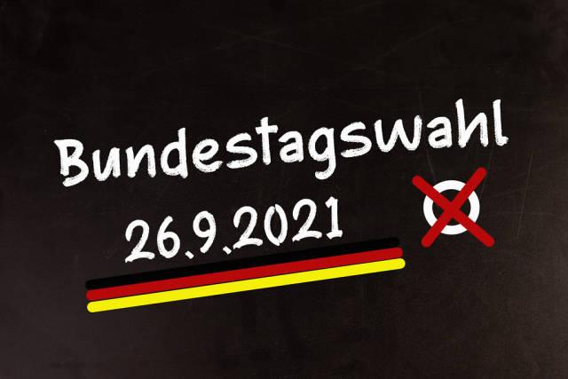 Bundestagswahl am 26 September 2021, Wahl zum deutschen Bundestag, Demokratie und Politik