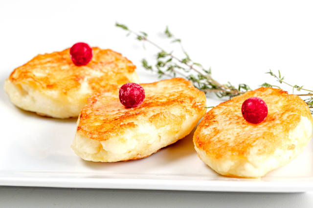 Sweet dessert with cottage cheese and semolina