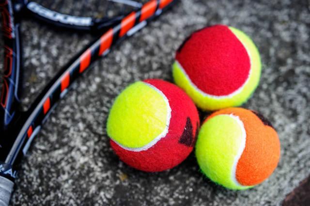 Kids training tennis balls