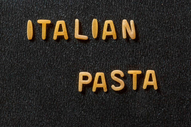 Inscription Italian pasta