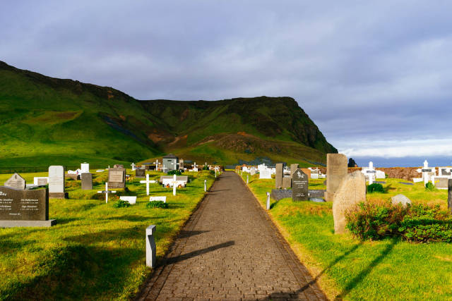 Cemetery on the top of the mountain / Friedhof auf dem Gipfel des Berges