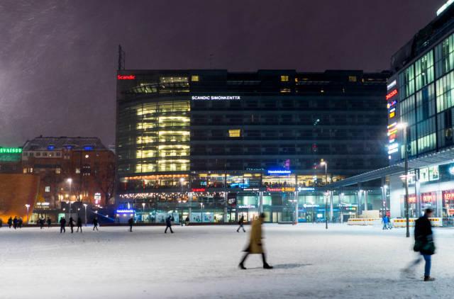 Wintery city-center of Helsinki / Winterliche Innenstadt von Helsinki