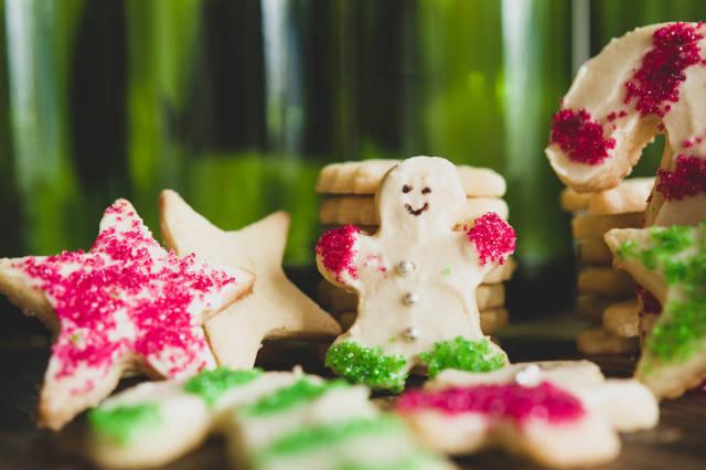Nicely garnished christmas sugar cookies