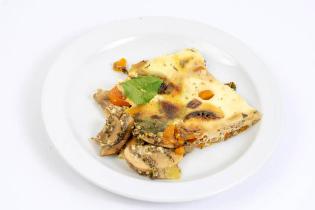 Mushrooms pie with Eggs and Vegetables