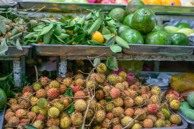 Rambutan and other Fruits at Ben Thanh Market in Saigon