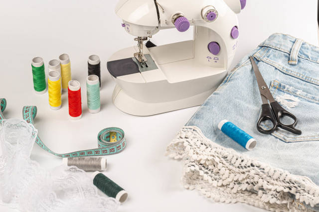 Sewing craft and tailoring concept