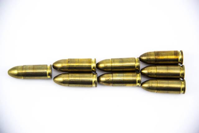 Many Bullets shaped as a Big Bullet
