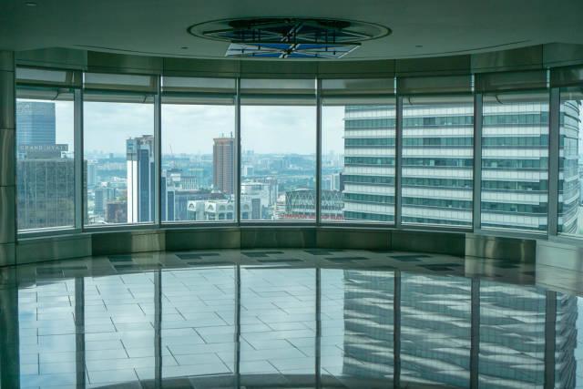 Waiting Area at the Skybridge of Petronas Twin Towers in Kuala Lumpur
