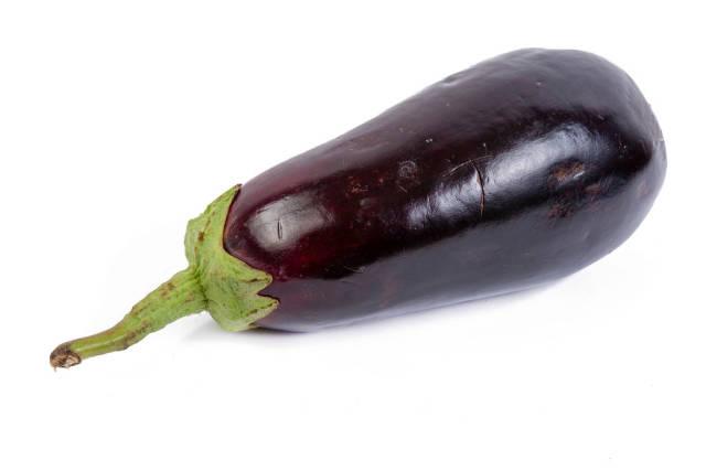 Fresh Eggplant isolated above white background