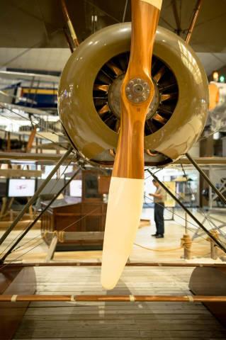 Propeller eines kleinen Flugzeugs