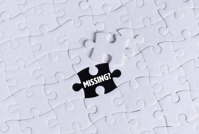 Missing puzzle piece with Missing text