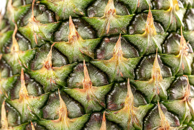 Close-up, pineapple surface texture, natural background concept