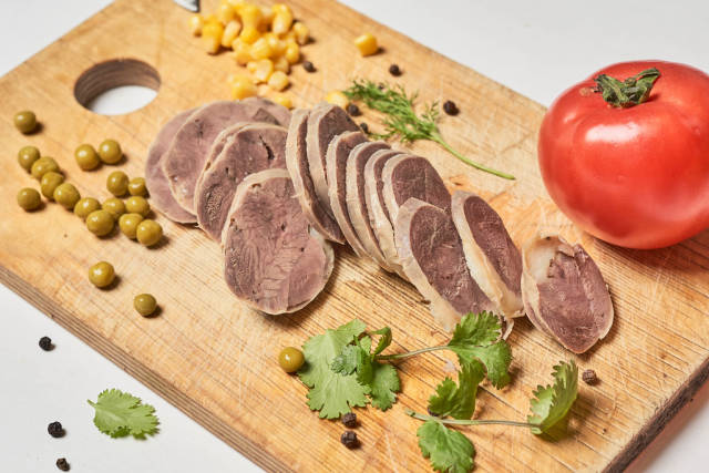 Delicious kazy - Traditional Central Asian sausage prepared with horse meat