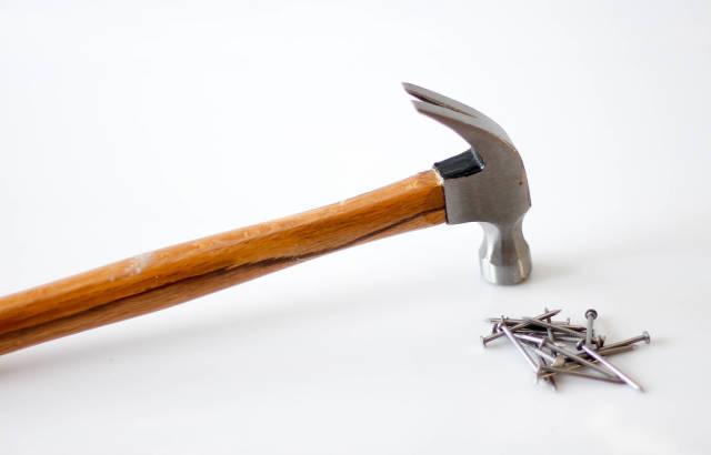 Nails and a hammer