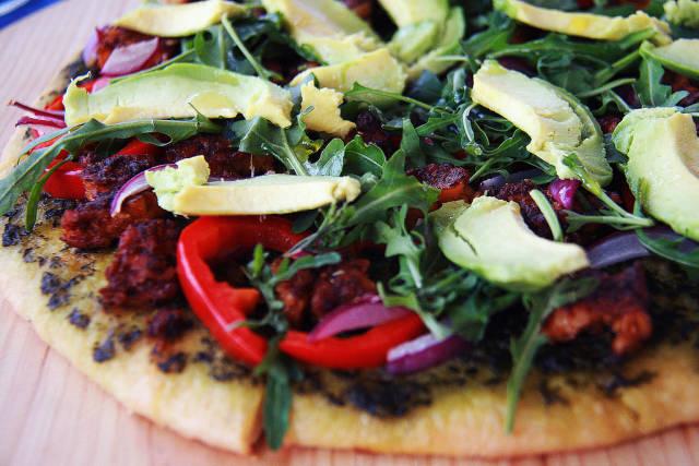 Vegan Flatbread Pizza