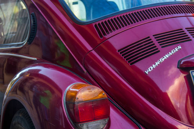 Gut erhaltener Volkswagen Käfer. Oldtimer