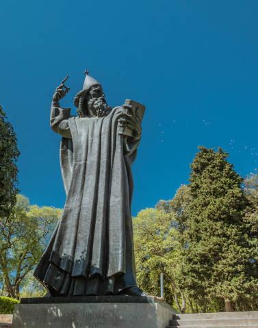 Statue von Gregor von Nin in Split, Kroatien