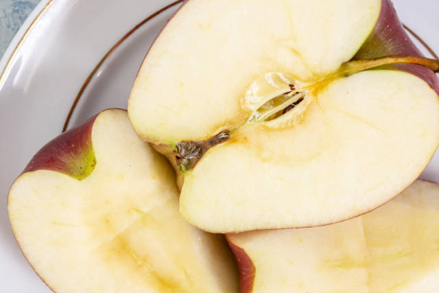 Sliced Apple on the plate