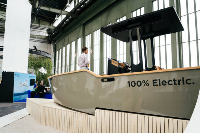 Fully electric X-Shore boat manufactured in Sweden