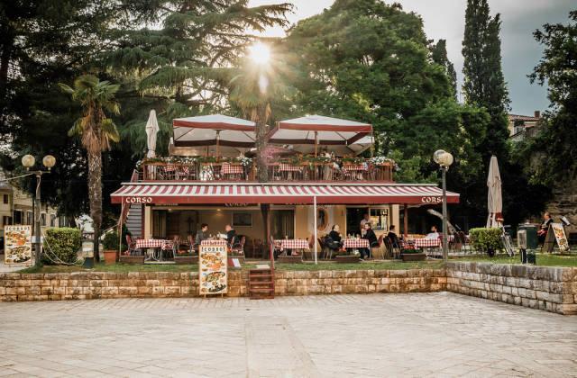Outdoor restaurant in Porec