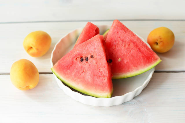 Watermelon and apricot