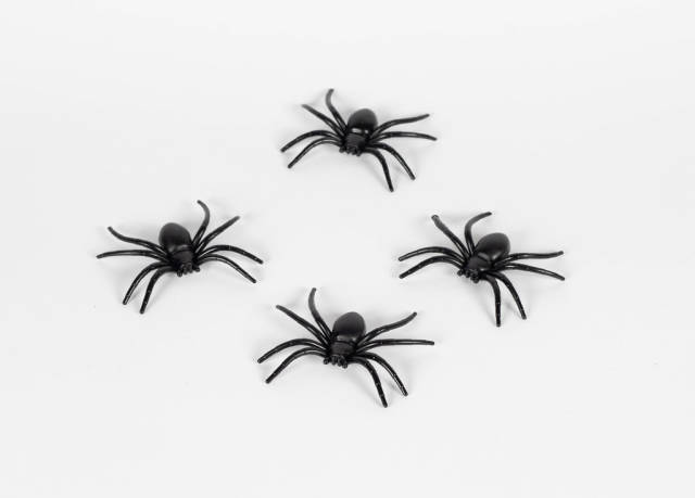 Plastic toy spiders