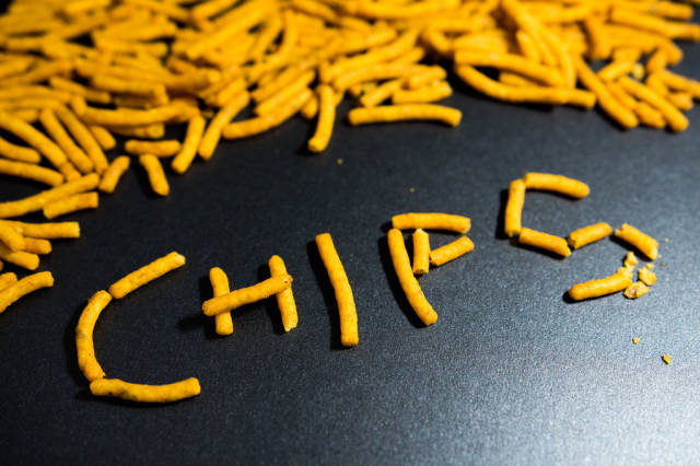 Chips forming the word CHIPS