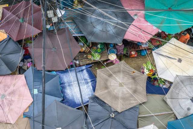 Chinatown Market Top View in Ho Chi Minh City