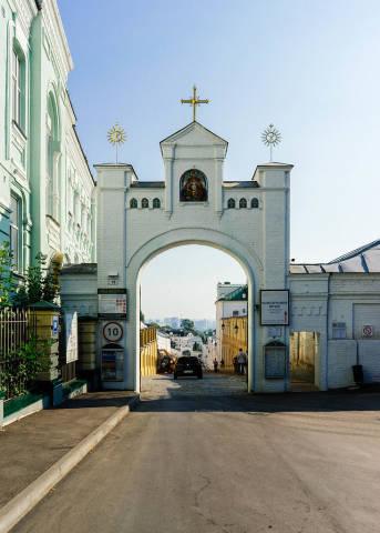 Entrance to the Kiev Pechersk Lavra / Eingang zum Kiewer Lawra