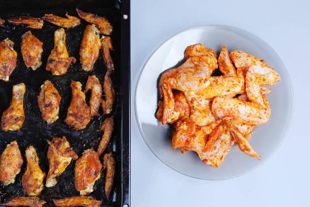 Raw versus baked chicken wings