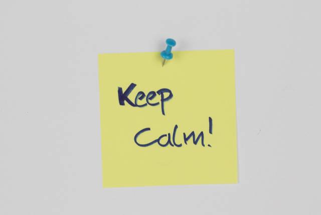 Keep calm message