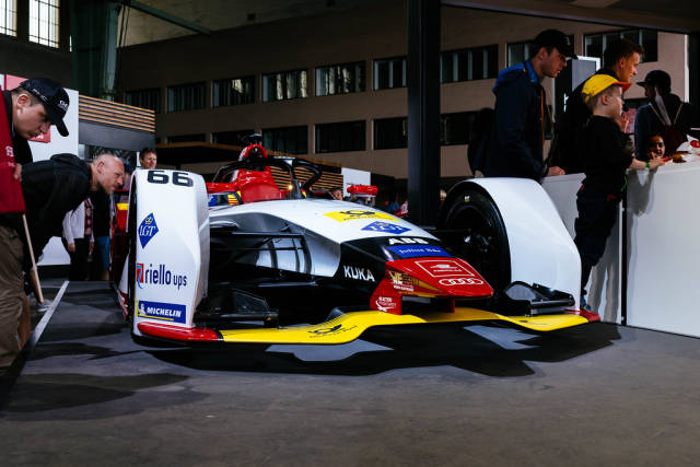 Audi Formel E-Auto in der Frontansicht