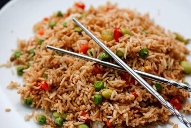 chinese Rice Close-Up