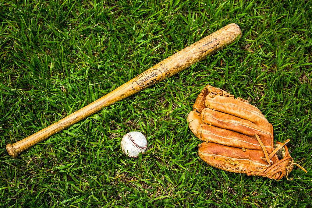 A Glove, a Ball and a Bat