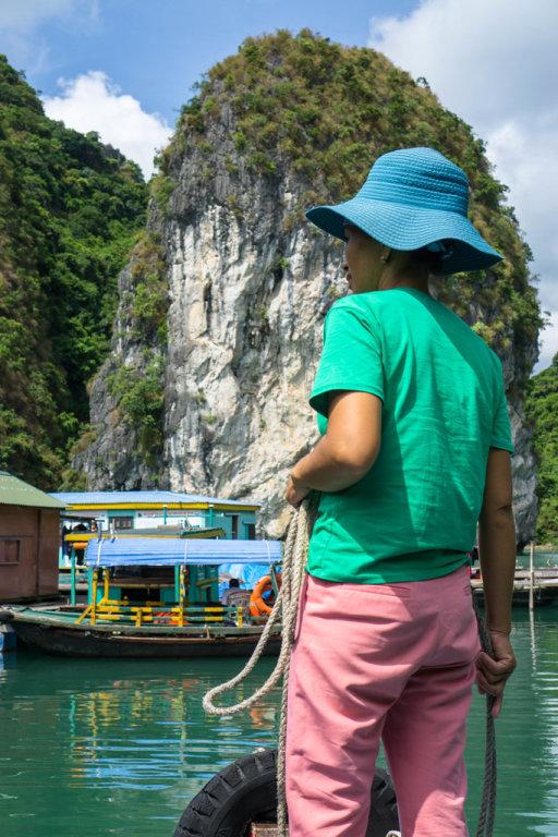 Local Vietnamese Woman in Ha Long Bay
