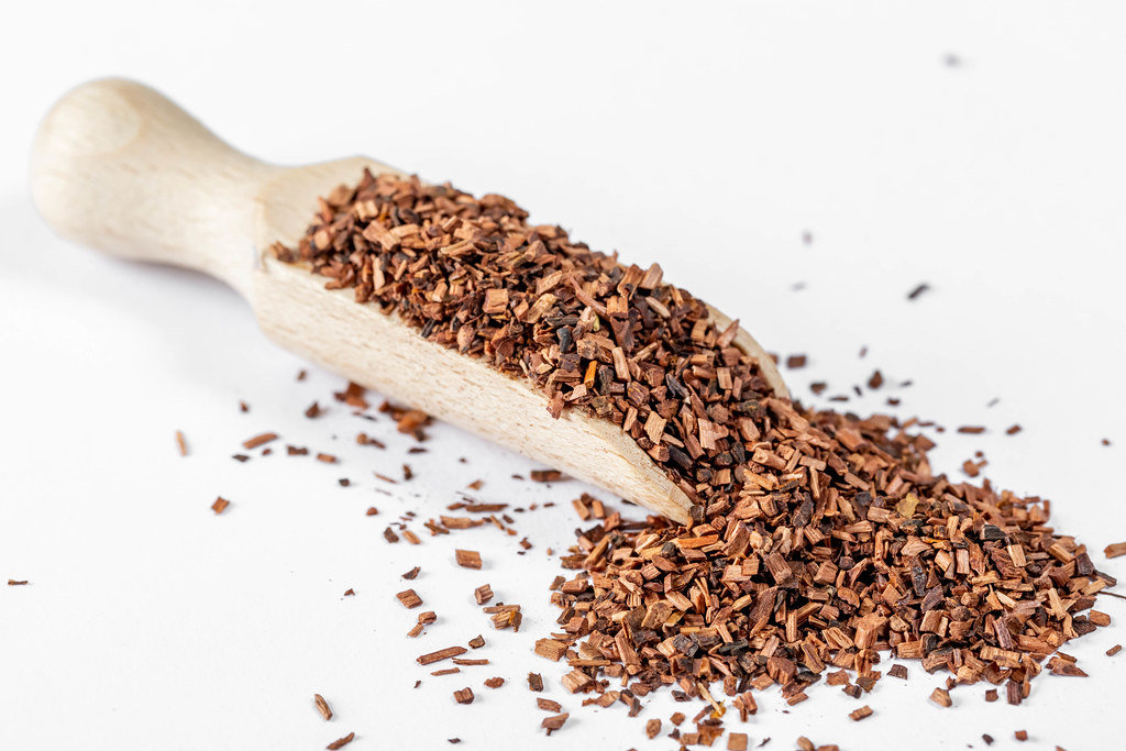 Dried curative tea from bark