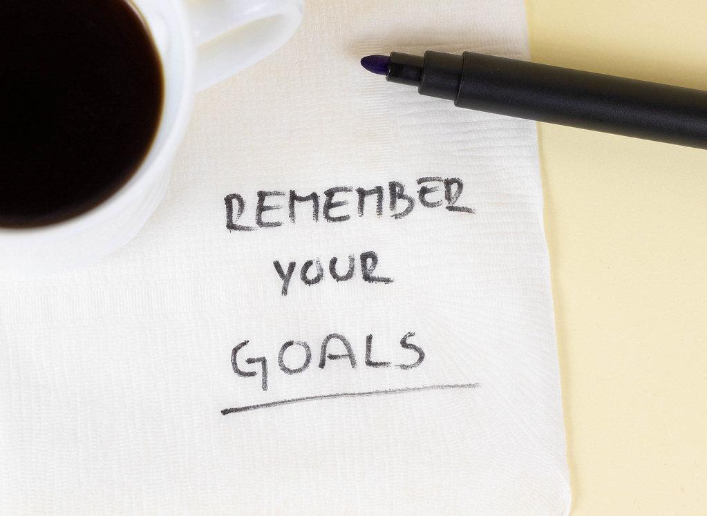 Ziele nicht aus den Augen verlieren