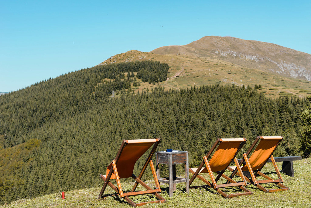 """Old Mountain - """"Babin Zub"""", Serbia, Chairs on the Field With Beautiful View"""