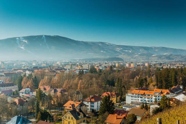 Ein Blick auf die Stadt Marburg an der Drau