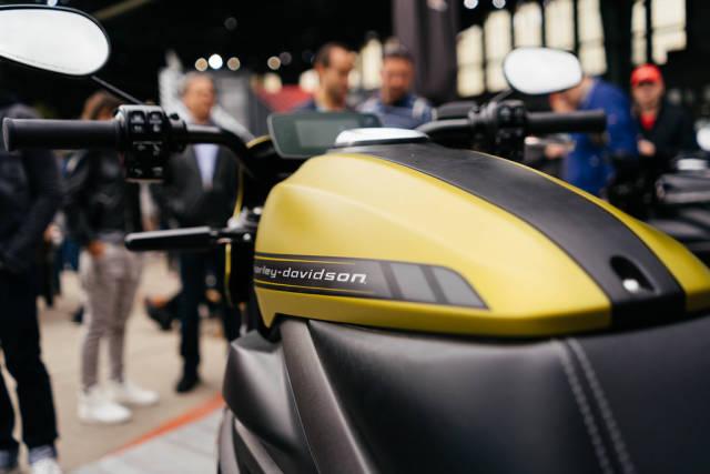Elektrische Harley Davidson LiveWire in der Nahaufnahme