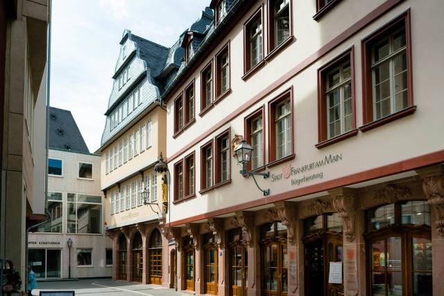 Historical German architecture in downtown Frankfurt